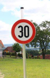 Geschwindigkeitsbeschränkungen in Wohngebieten